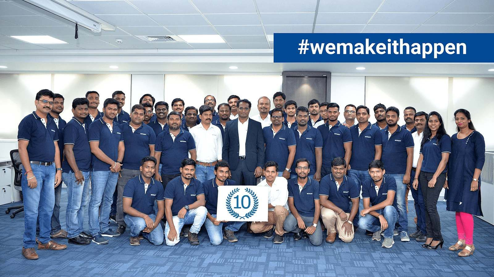 group picture of the BENTELER team in Chennai, India