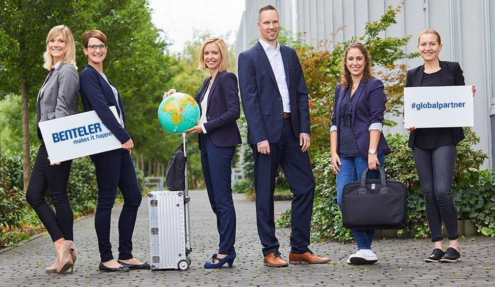 six BENTELER employees posing