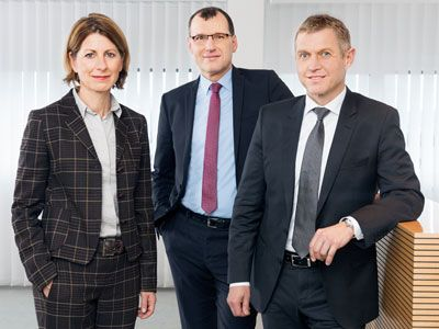 BENTELER Executive Board: Ralf Göttel (Chief Executive Officer), Guido Huppertz (Chief Financial Officer), Isabel Diaz Rohr (Member of the Executive Board)
